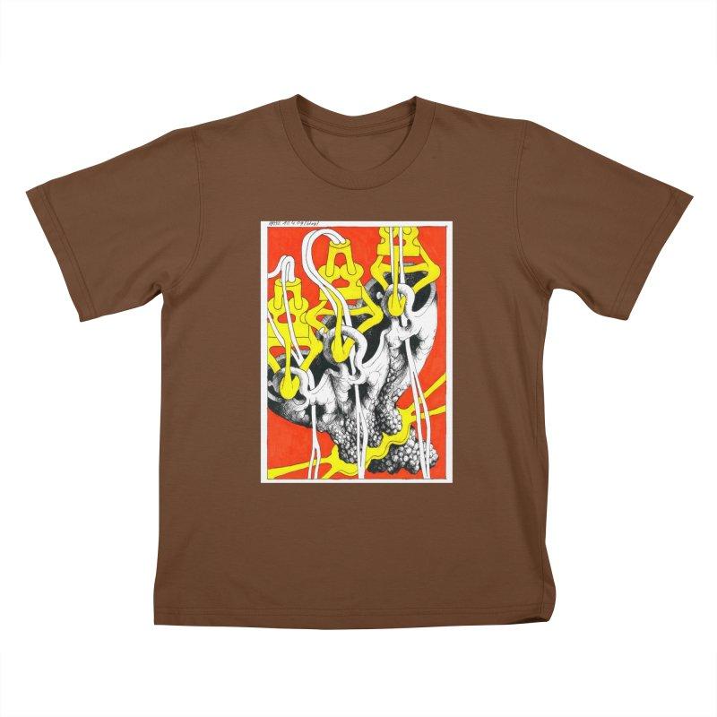 Drawing Blog No.2 - 10.4.09 Kids T-Shirt by schizo pop