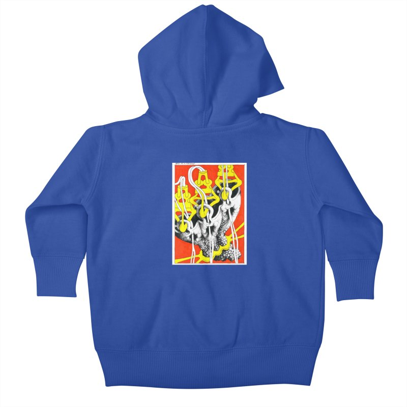 Drawing Blog No.2 - 10.4.09 Kids Baby Zip-Up Hoody by schizo pop