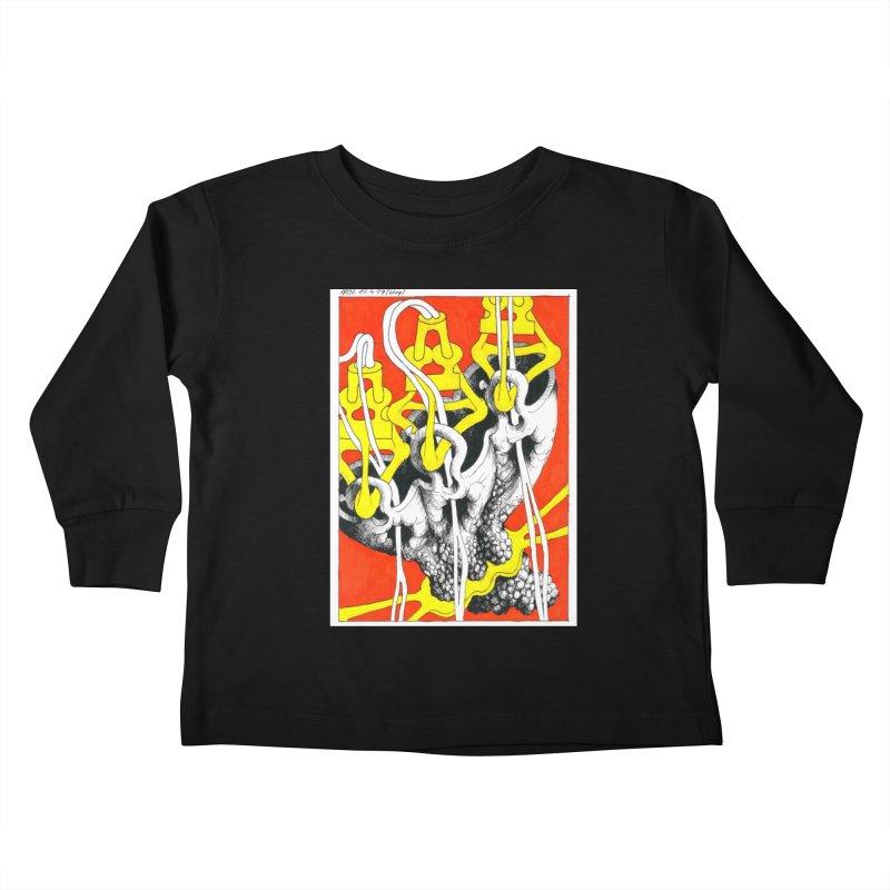 Drawing Blog No.2 - 10.4.09 Kids Toddler Longsleeve T-Shirt by schizo pop