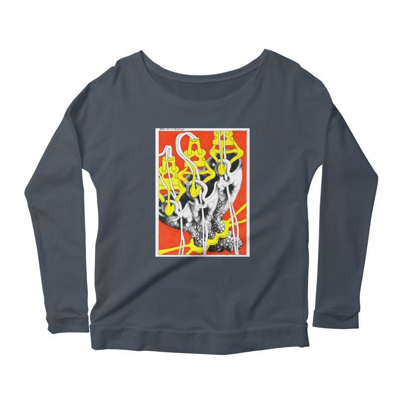 Drawing Blog No.2 - 10.4.09 Women's Scoop Neck Longsleeve T-Shirt by schizo pop