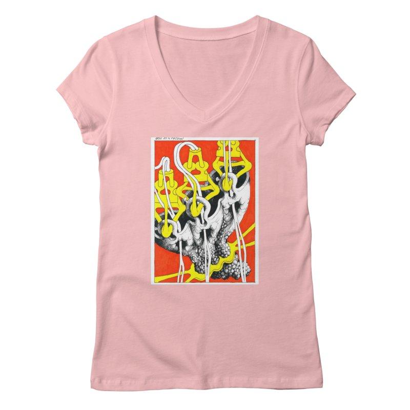 Drawing Blog No.2 - 10.4.09 Women's Regular V-Neck by schizo pop