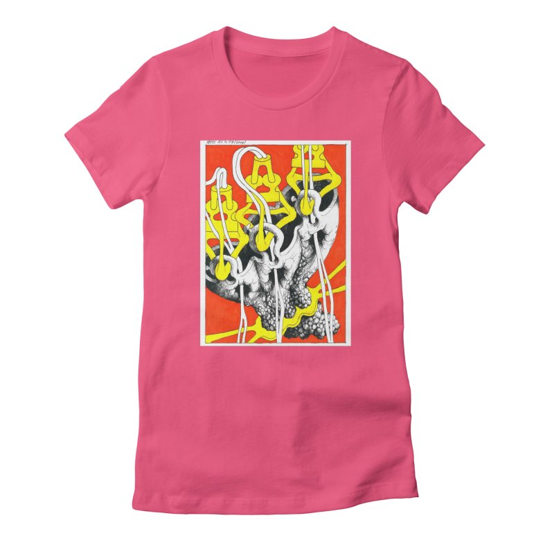 Drawing Blog No.2 - 10.4.09 Women's Fitted T-Shirt by schizo pop