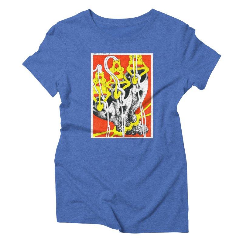 Drawing Blog No.2 - 10.4.09 Women's Triblend T-Shirt by schizo pop