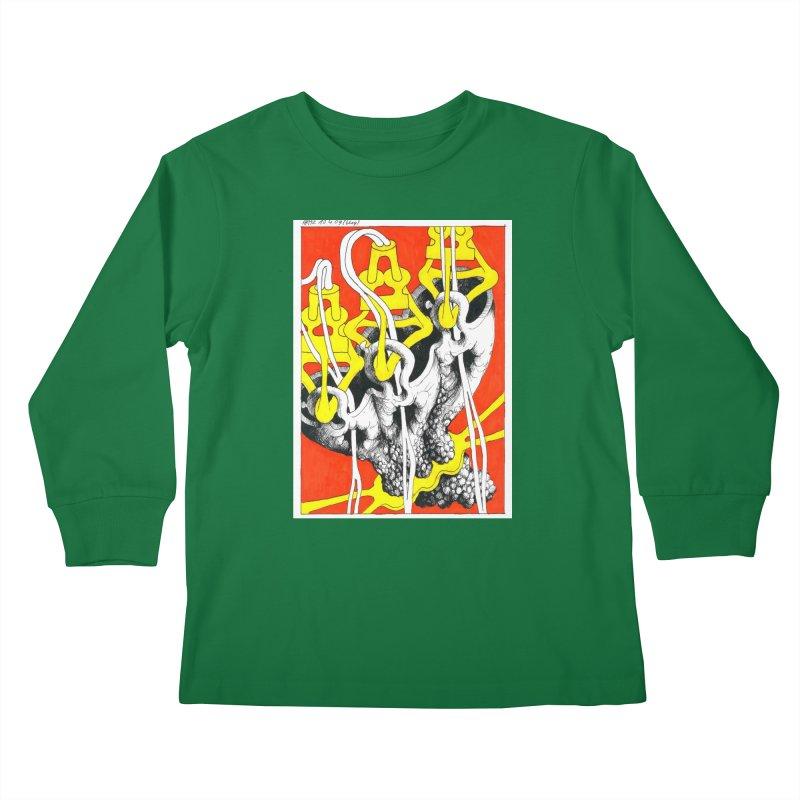 Drawing Blog No.2 - 10.4.09 Kids Longsleeve T-Shirt by schizo pop