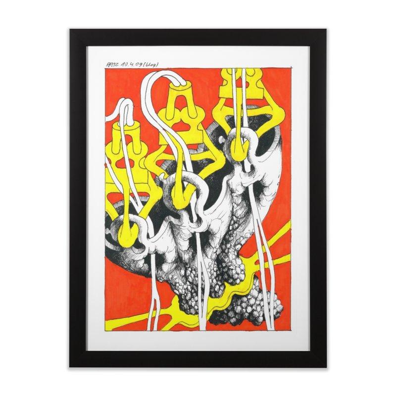 Drawing Blog No.2 - 10.4.09 Home Framed Fine Art Print by schizo pop