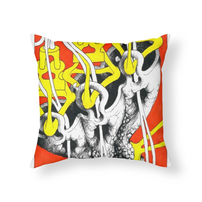Drawing Blog No.2 - 10.4.09 Home Throw Pillow by schizo pop