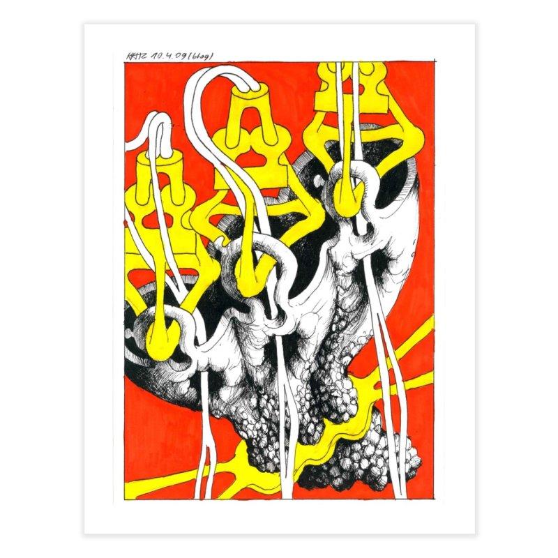 Drawing Blog No.2 - 10.4.09 Home Fine Art Print by schizo pop