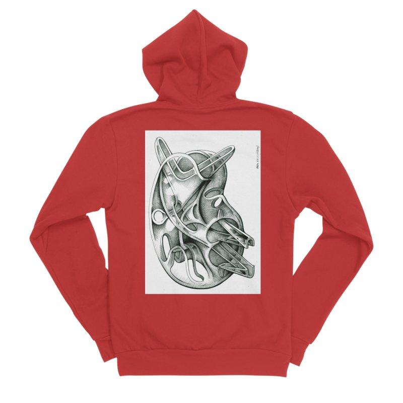 Drawing Blog No.5 - 22.11.13 Women's Sponge Fleece Zip-Up Hoody by schizo pop