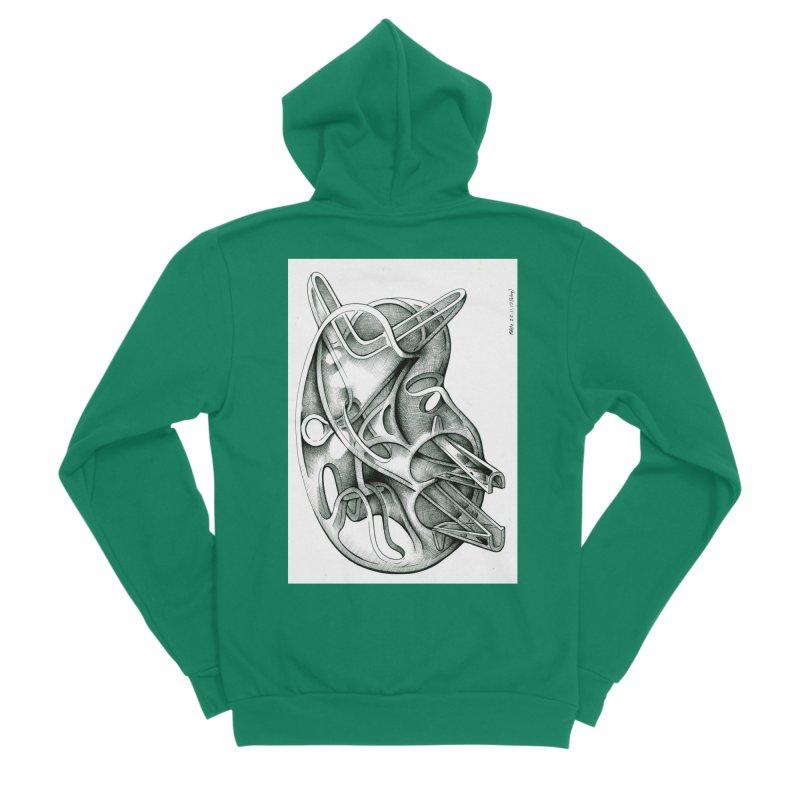 Drawing Blog No.5 - 22.11.13 Men's Sponge Fleece Zip-Up Hoody by schizo pop