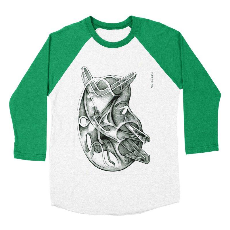 Drawing Blog No.5 - 22.11.13 Women's Baseball Triblend Longsleeve T-Shirt by schizo pop
