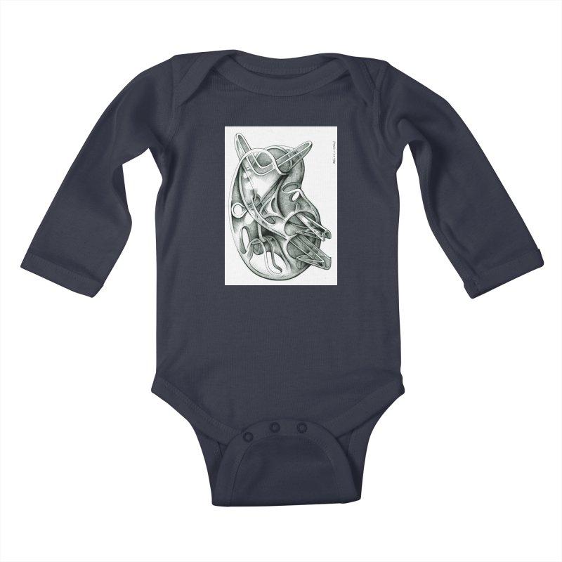 Drawing Blog No.5 - 22.11.13 Kids Baby Longsleeve Bodysuit by schizo pop