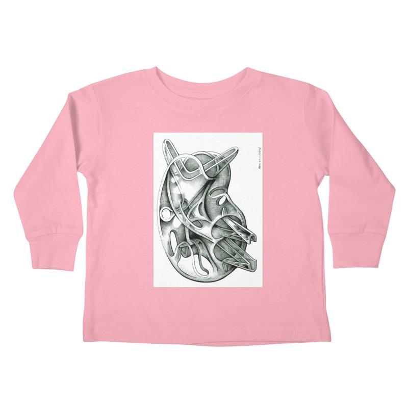Drawing Blog No.5 - 22.11.13 Kids Toddler Longsleeve T-Shirt by schizo pop