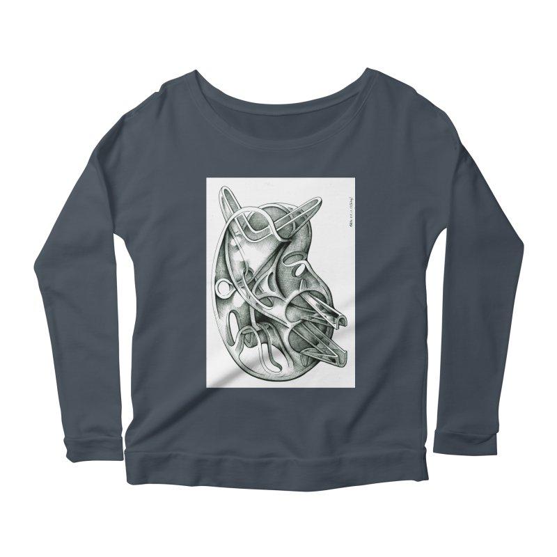 Drawing Blog No.5 - 22.11.13 Women's Scoop Neck Longsleeve T-Shirt by schizo pop