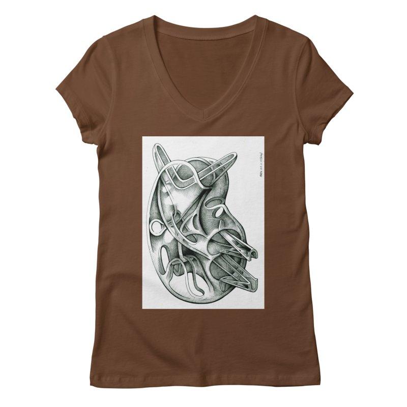Drawing Blog No.5 - 22.11.13 Women's Regular V-Neck by schizo pop