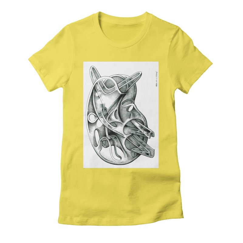Drawing Blog No.5 - 22.11.13 Women's Fitted T-Shirt by schizo pop