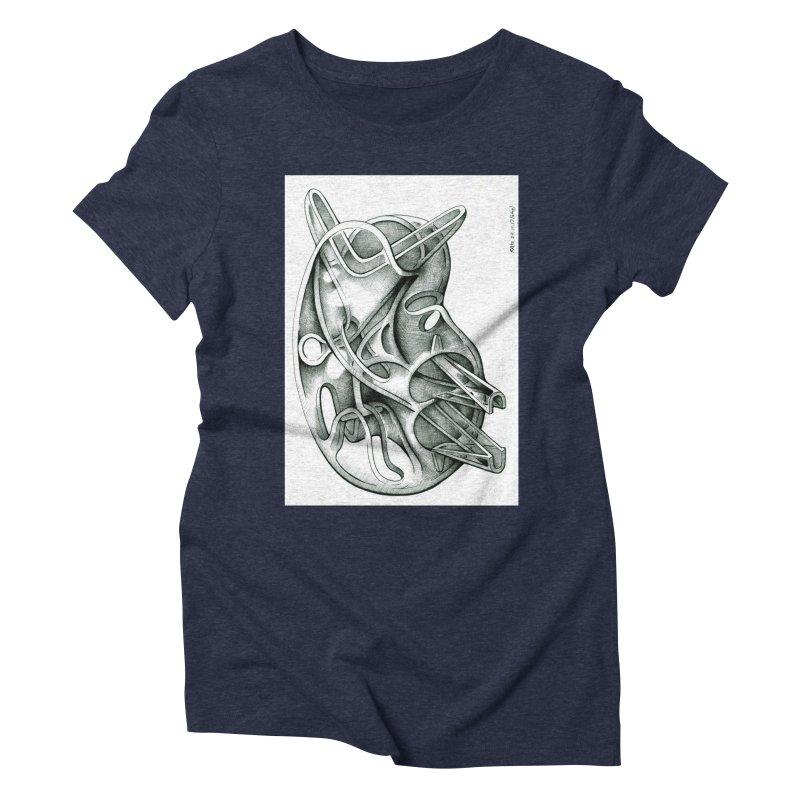 Drawing Blog No.5 - 22.11.13 Women's Triblend T-Shirt by schizo pop