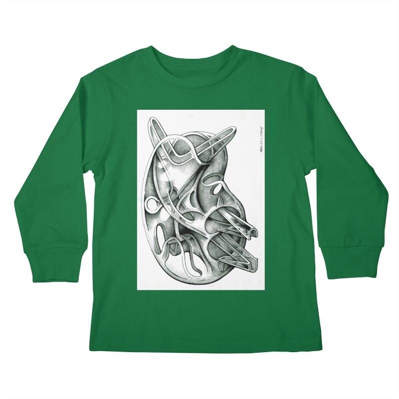 Drawing Blog No.5 - 22.11.13 Kids Longsleeve T-Shirt by schizo pop