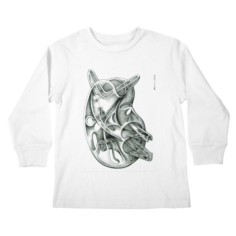 Drawing Blog No.5 - 22.11.13 Kids Longsleeve T-Shirt by schizo pop