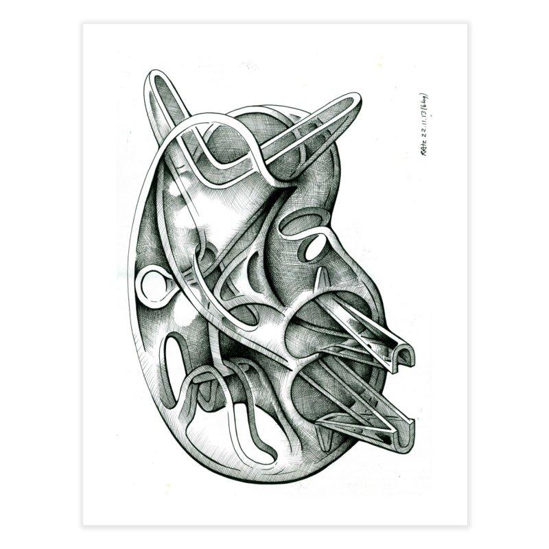 Drawing Blog No.5 - 22.11.13 Home Fine Art Print by schizo pop