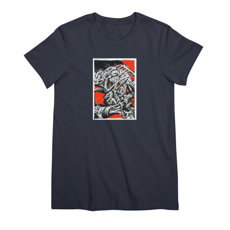 Drawing Blog No.2 - 14.4.09 Women's Premium T-Shirt by schizo pop