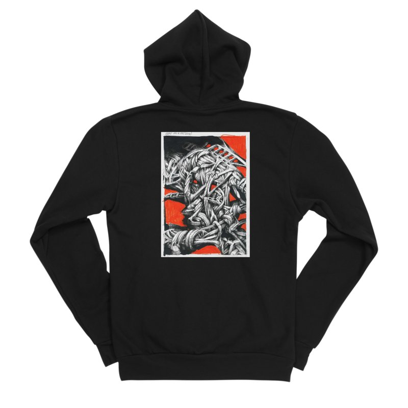 Drawing Blog No.2 - 14.4.09 Women's Sponge Fleece Zip-Up Hoody by schizo pop
