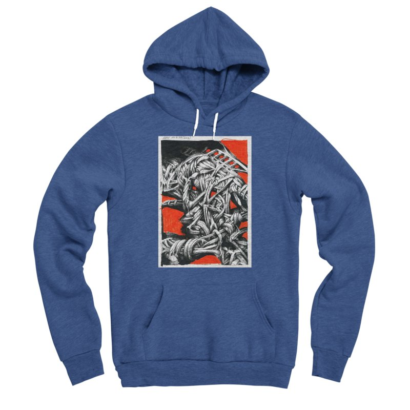 Drawing Blog No.2 - 14.4.09 Women's Sponge Fleece Pullover Hoody by schizo pop
