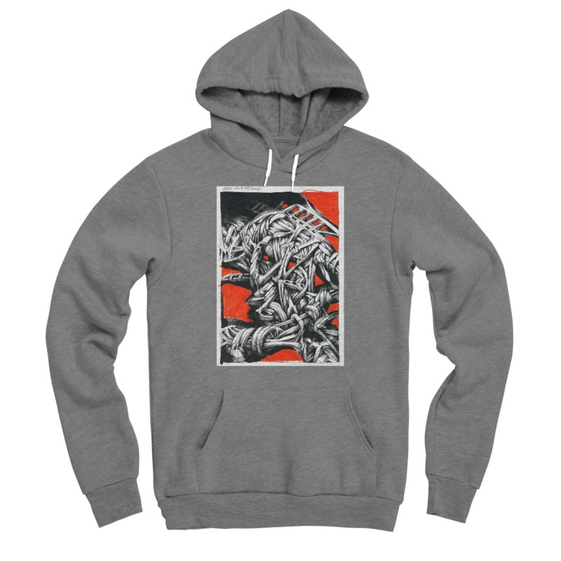 Drawing Blog No.2 - 14.4.09 Men's Sponge Fleece Pullover Hoody by schizo pop