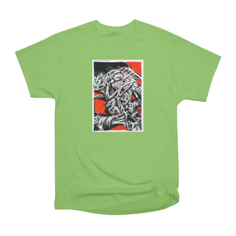 Drawing Blog No.2 - 14.4.09 Women's Heavyweight Unisex T-Shirt by schizo pop