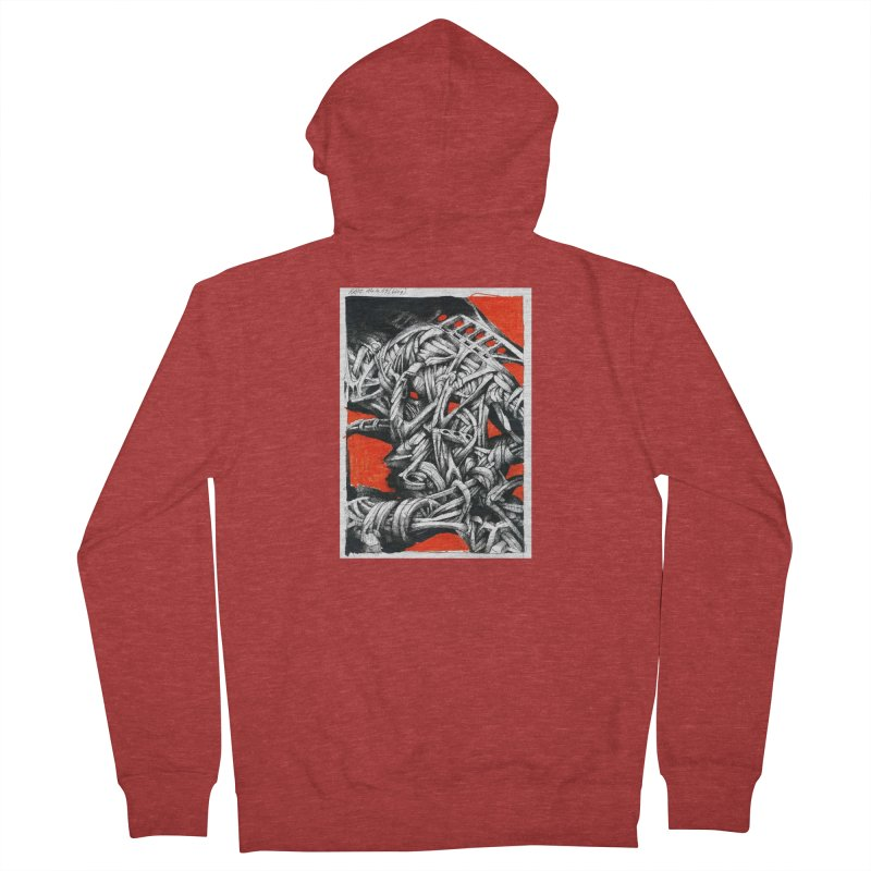 Drawing Blog No.2 - 14.4.09 Men's French Terry Zip-Up Hoody by schizo pop