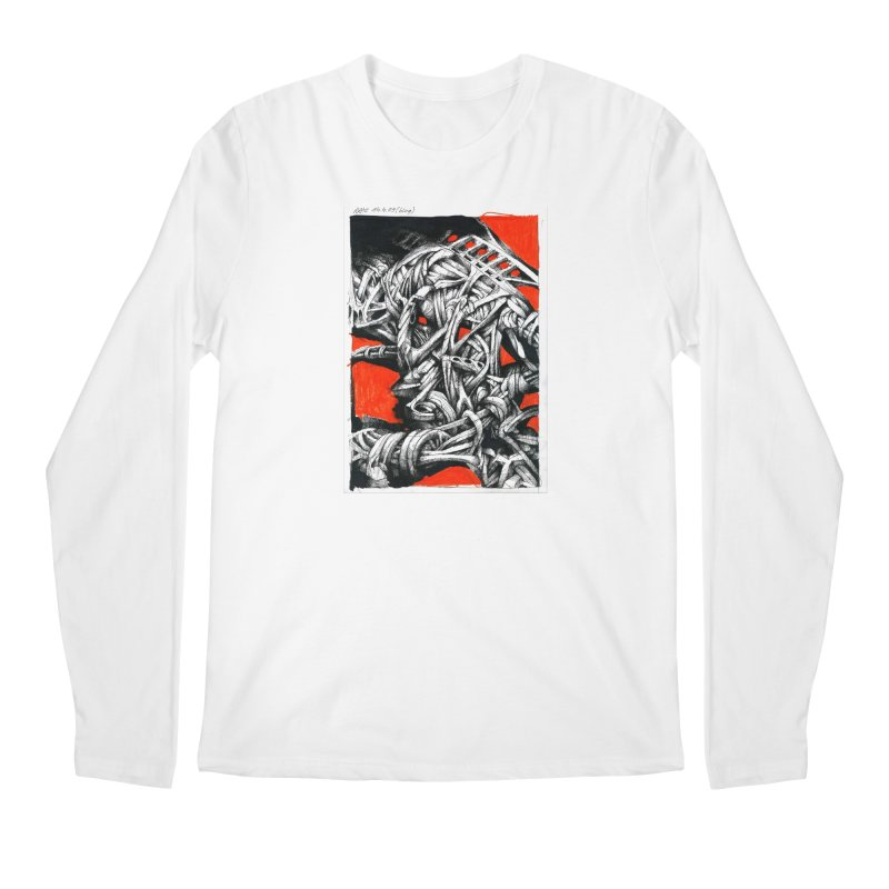 Drawing Blog No.2 - 14.4.09 Men's Regular Longsleeve T-Shirt by schizo pop