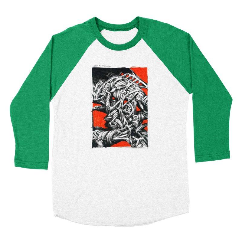 Drawing Blog No.2 - 14.4.09 Women's Baseball Triblend Longsleeve T-Shirt by schizo pop
