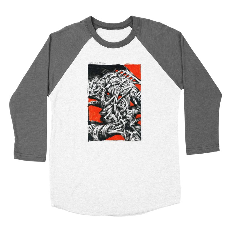 Drawing Blog No.2 - 14.4.09 Men's Baseball Triblend Longsleeve T-Shirt by schizo pop