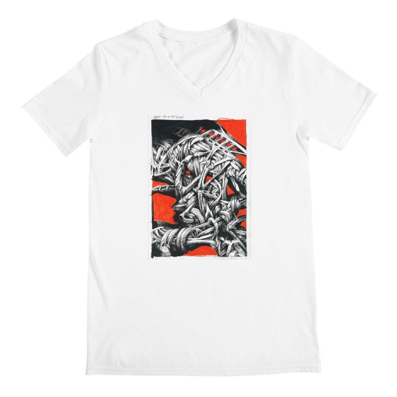 Drawing Blog No.2 - 14.4.09 Men's V-Neck by schizo pop