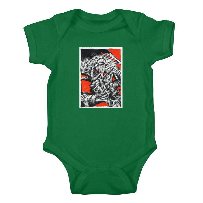 Drawing Blog No.2 - 14.4.09 Kids Baby Bodysuit by schizo pop