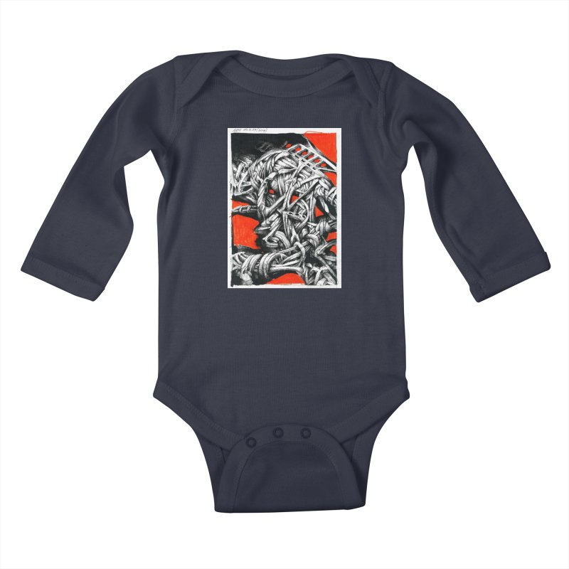 Drawing Blog No.2 - 14.4.09 Kids Baby Longsleeve Bodysuit by schizo pop