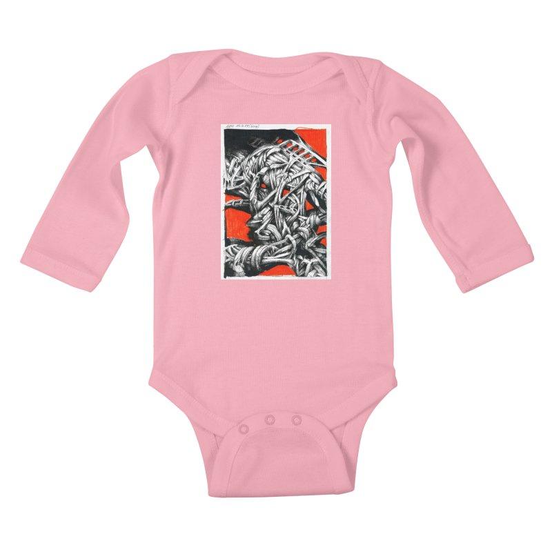 Drawing Blog No.2 - 14.4.09 Kids Baby Longsleeve Bodysuit by schizo pop