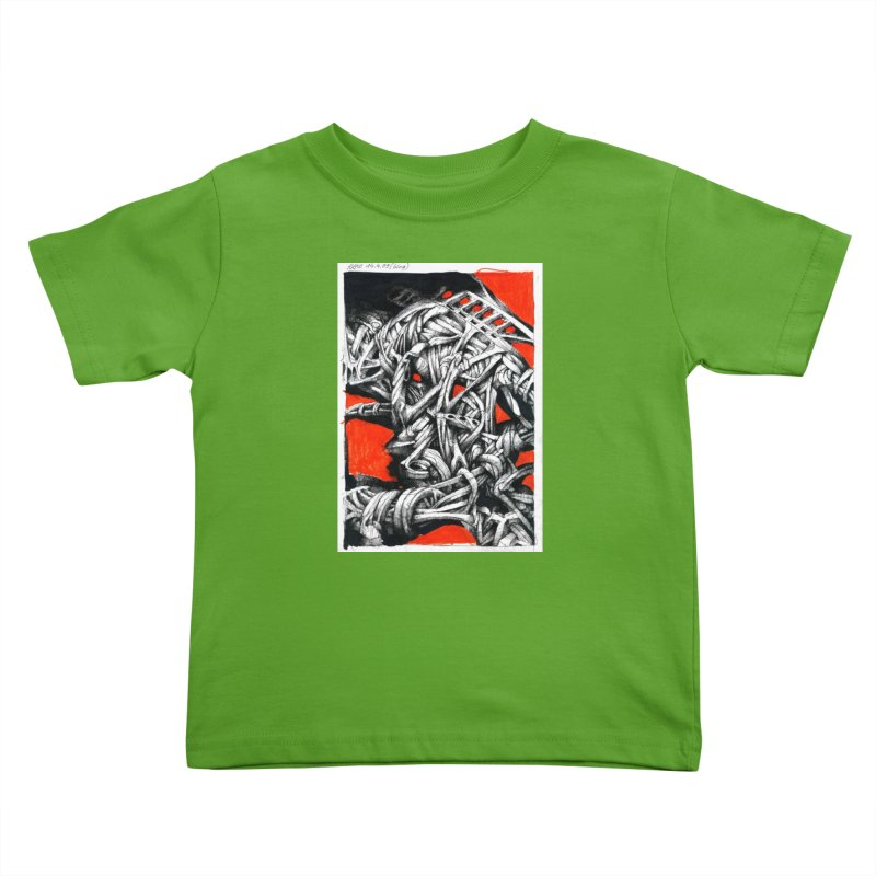 Drawing Blog No.2 - 14.4.09 Kids Toddler T-Shirt by schizo pop