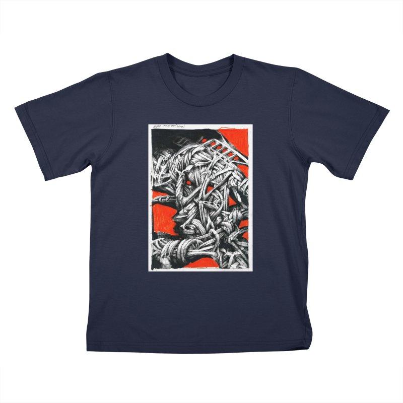 Drawing Blog No.2 - 14.4.09 Kids T-Shirt by schizo pop