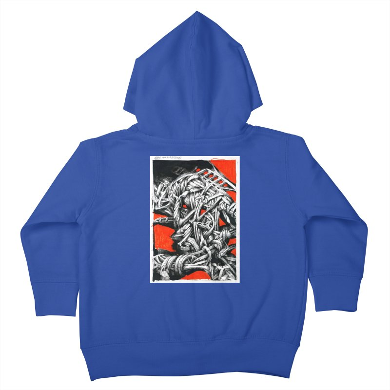 Drawing Blog No.2 - 14.4.09 Kids Toddler Zip-Up Hoody by schizo pop