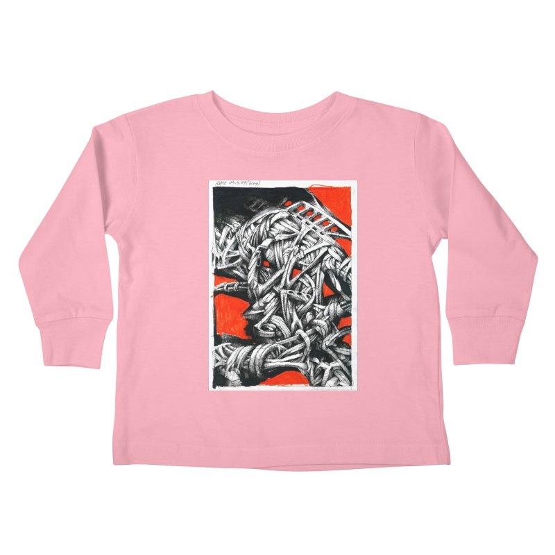 Drawing Blog No.2 - 14.4.09 Kids Toddler Longsleeve T-Shirt by schizo pop