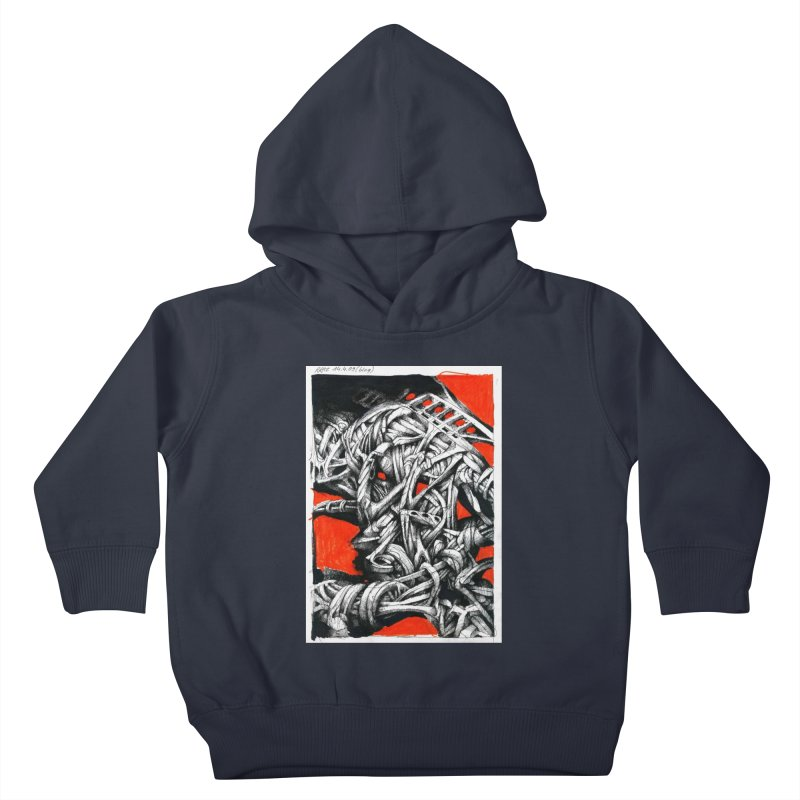 Drawing Blog No.2 - 14.4.09 Kids Toddler Pullover Hoody by schizo pop