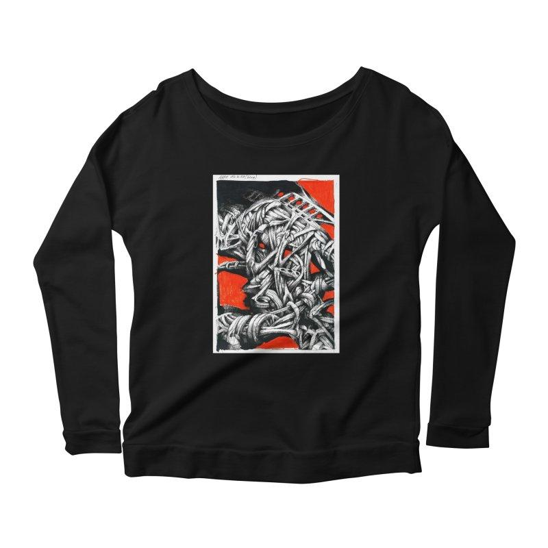 Drawing Blog No.2 - 14.4.09 Women's Scoop Neck Longsleeve T-Shirt by schizo pop