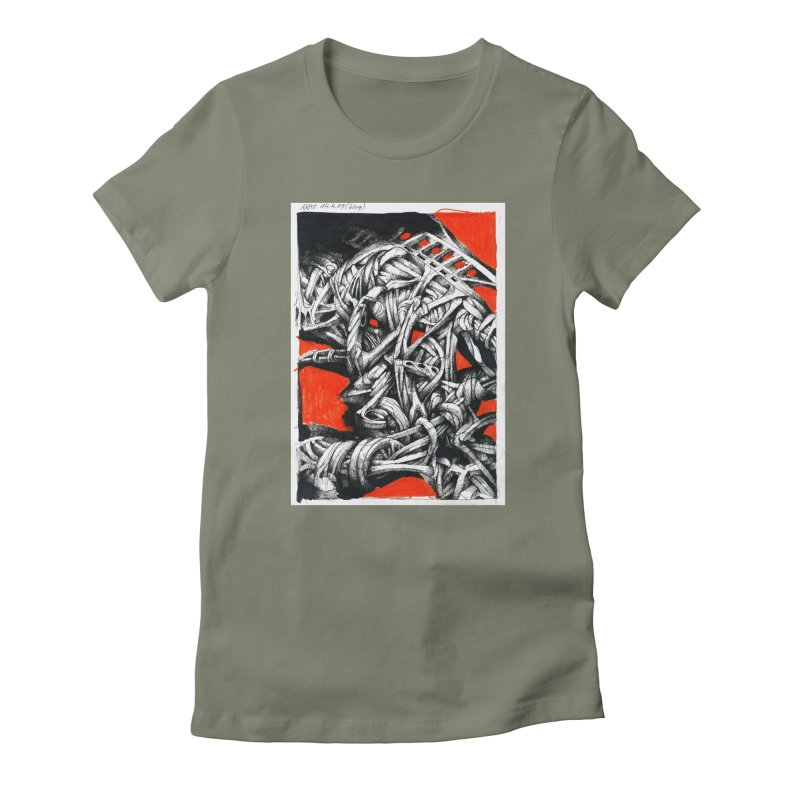 Drawing Blog No.2 - 14.4.09 Women's Fitted T-Shirt by schizo pop