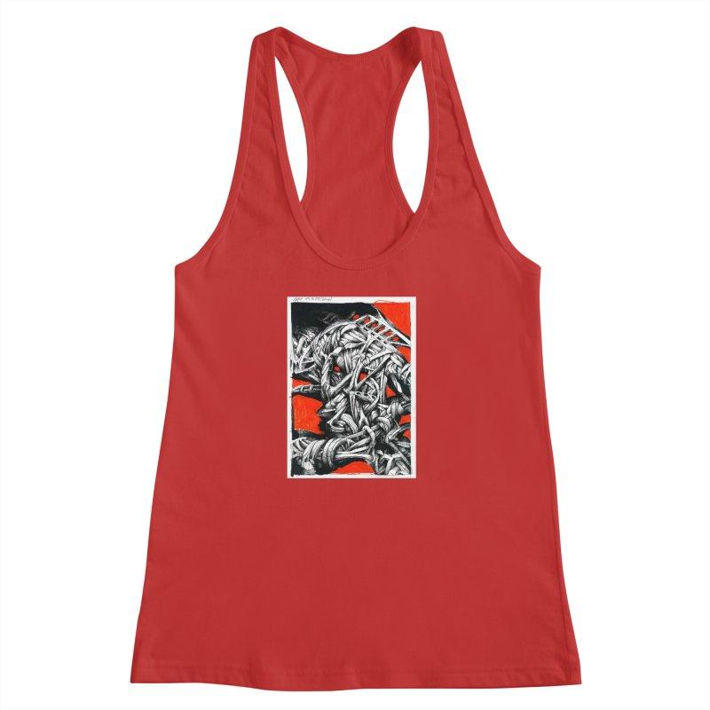 Drawing Blog No.2 - 14.4.09 Women's Racerback Tank by schizo pop