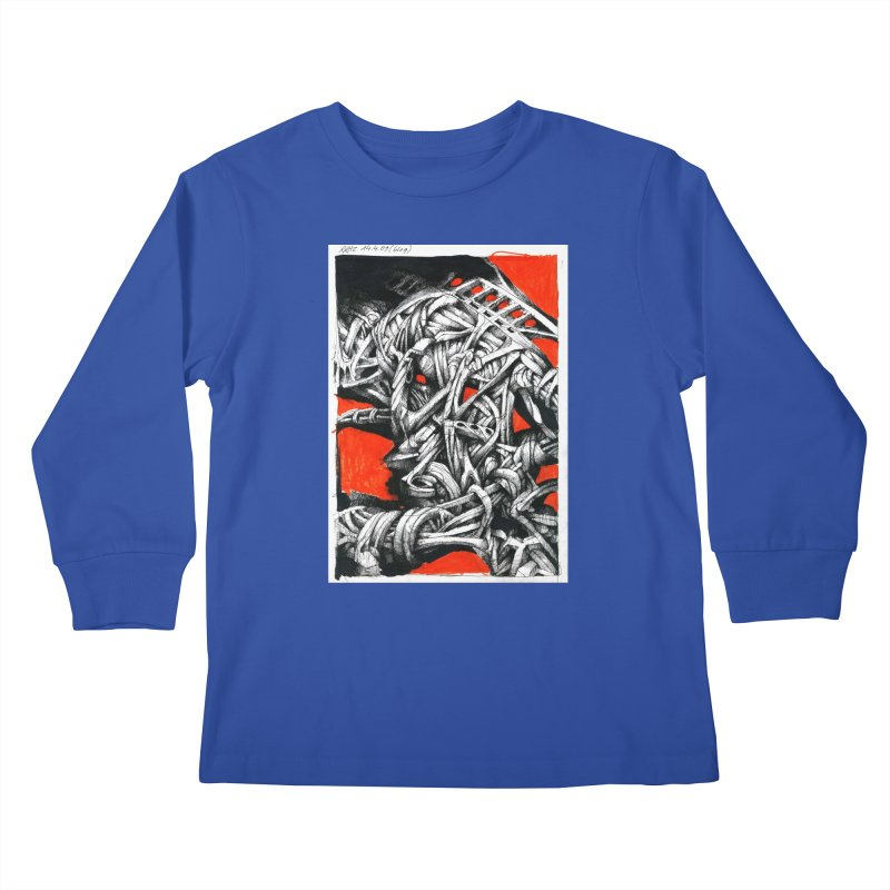 Drawing Blog No.2 - 14.4.09 Kids Longsleeve T-Shirt by schizo pop