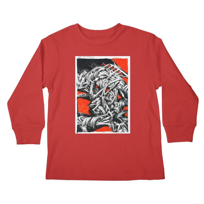 Drawing Blog No.2 - 14.4.09 Kids Longsleeve T-Shirt by schizo pop