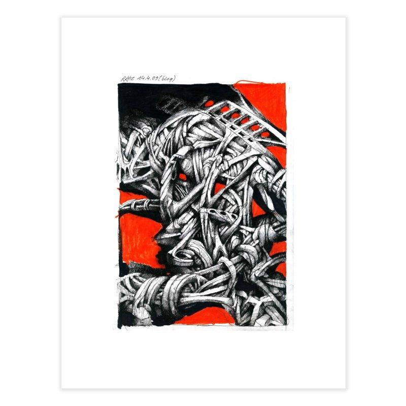 Drawing Blog No.2 - 14.4.09 Home Fine Art Print by schizo pop