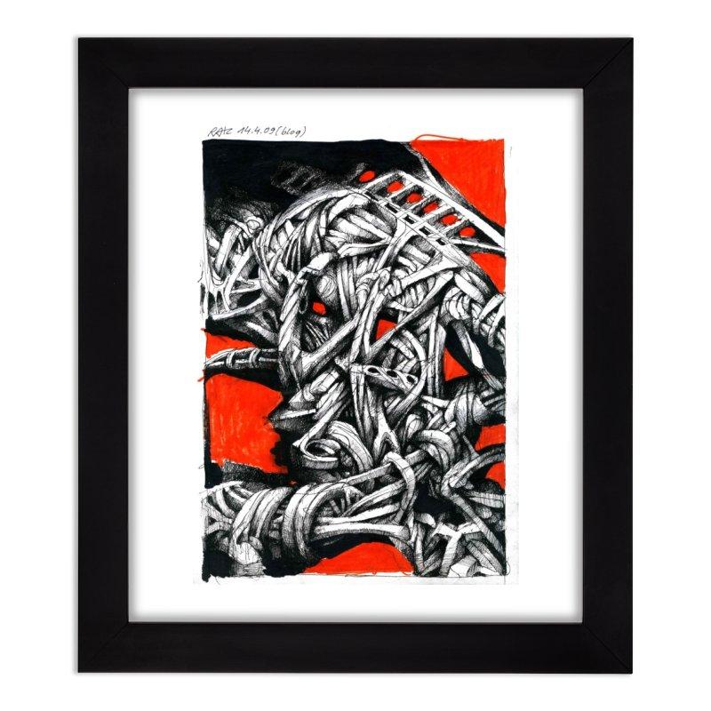 Drawing Blog No.2 - 14.4.09 Home Framed Fine Art Print by schizo pop