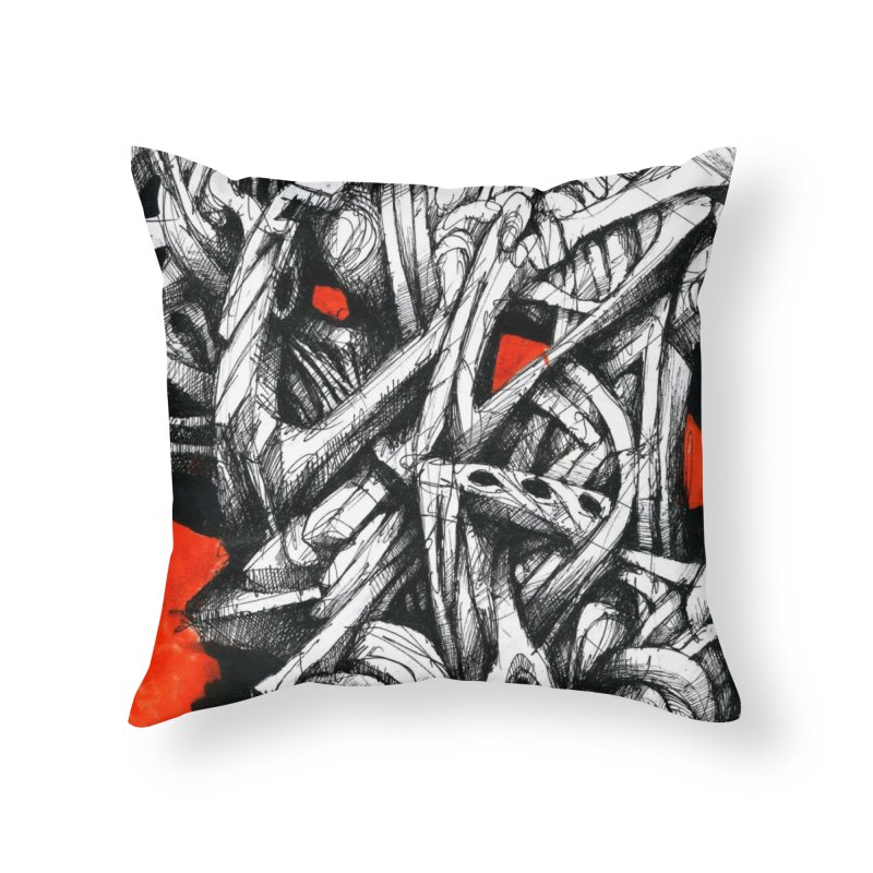 Drawing Blog No.2 - 14.4.09 Home Throw Pillow by schizo pop
