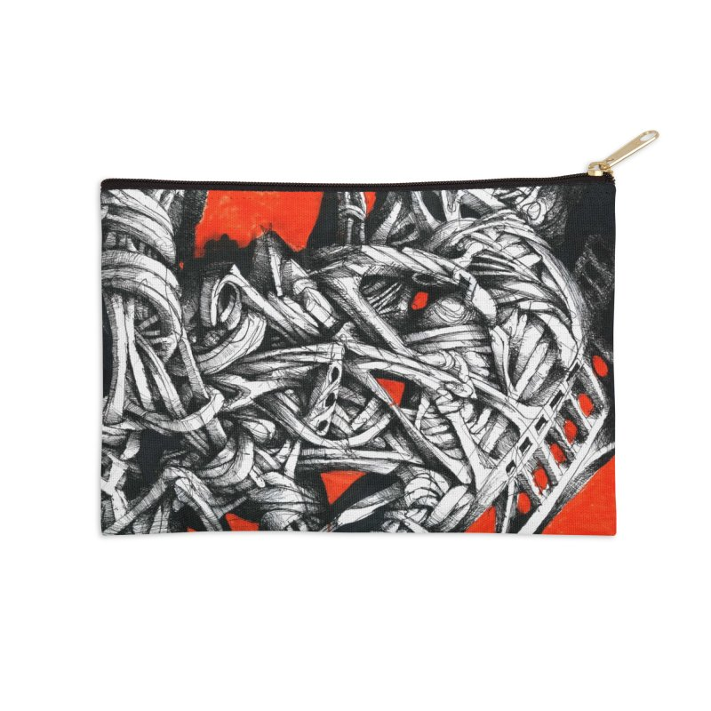 Drawing Blog No.2 - 14.4.09 Accessories Zip Pouch by schizo pop